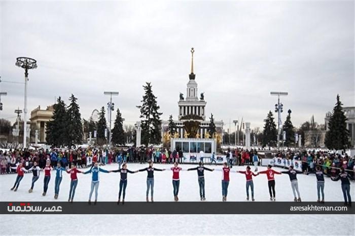 ثبت بزرگترین زمین اسکیت و هاکی روی یخ جهان به نام روسیه