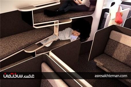 این هواپیما مثل هتل است