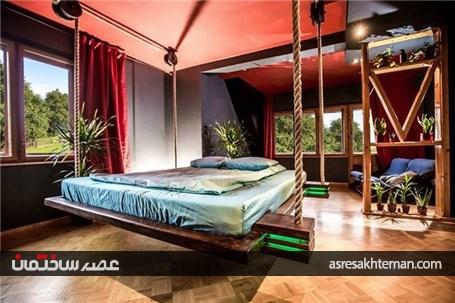 طراحی تخت خواب معلق و زیبا توسط ویکتور جازویک