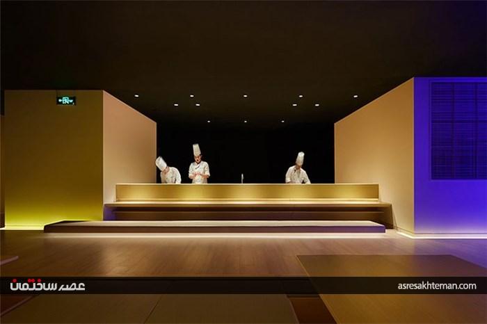 طراحی داخلی و معماری رستوران به سبک ژاپنی