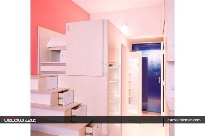 طراحی داخلی آپارتمان 19 متری در لندن