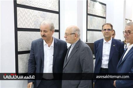 گزارش تصویری بازدید نعمتزاده از نمایشگاه کاشی و سرامیک