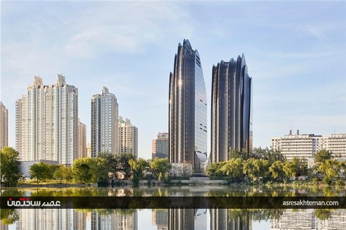 چائوین پارک پلازا معماری با الهام از نقاشی قدیمی چینی