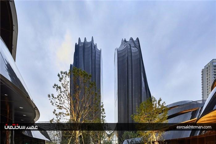 چائوین پارک پلازا، معماری با الهام از نقاشی قدیمی چینی
