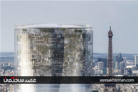 توهم ایفل وارونه در برج میراژ پاریس
