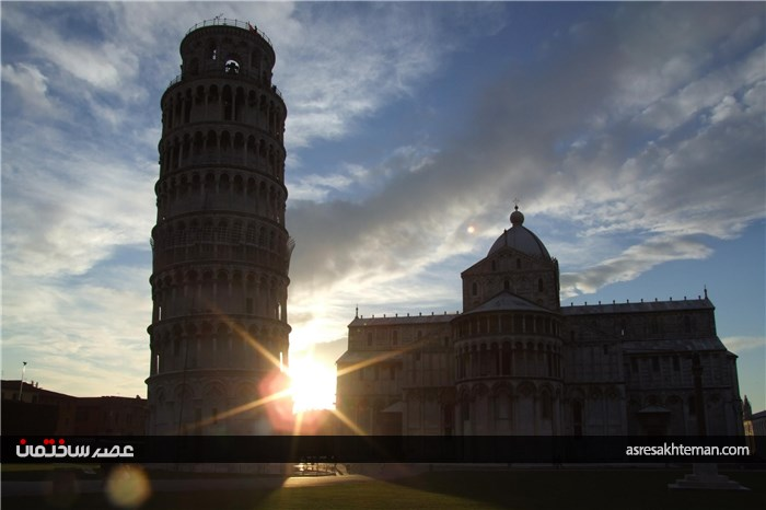برج پیزا معروف ترین بنای کج کهن