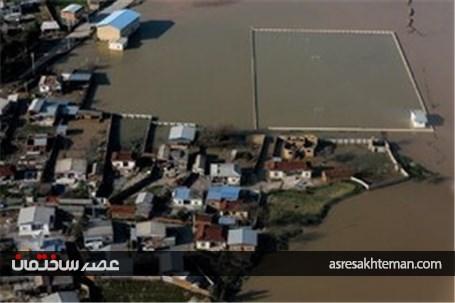 تصاویر هوایی از مناطق سیل زده و آبگرفتگی استان گلستان