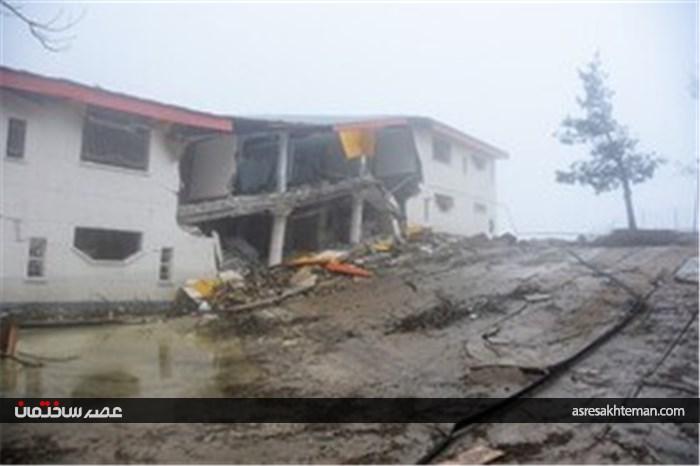 پیشروی رانش زمین در روستای حسین آباد کالپوش