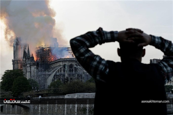 نماد ملی در آتش