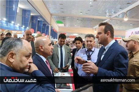 گزارش تصویری افتتاح ششمین نمایشگاه بین المللی ساختمان بغداد