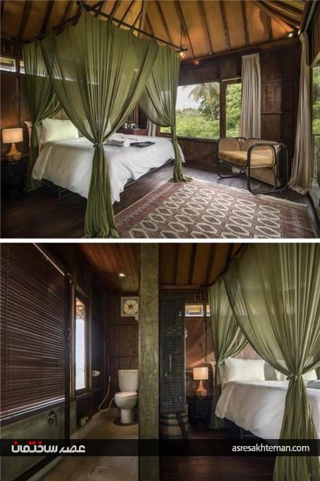 طراحی هتل درختی در جنگل گرمسیری اندونزی