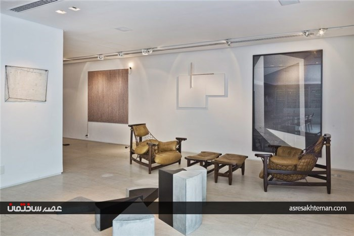 استخر شیشه ای در دکوراسیون خانه ی دوبلکس